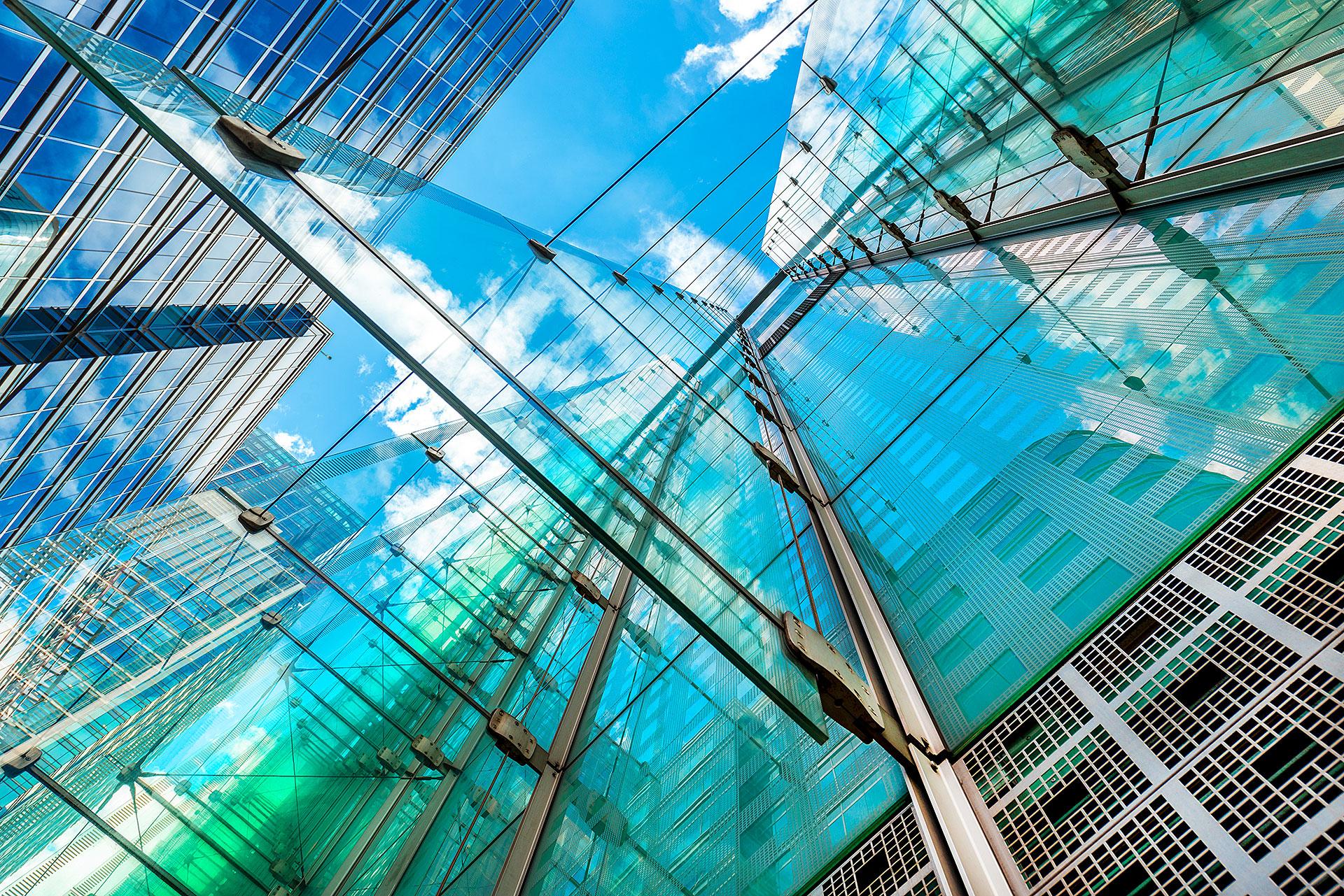 szklana konstrukcja