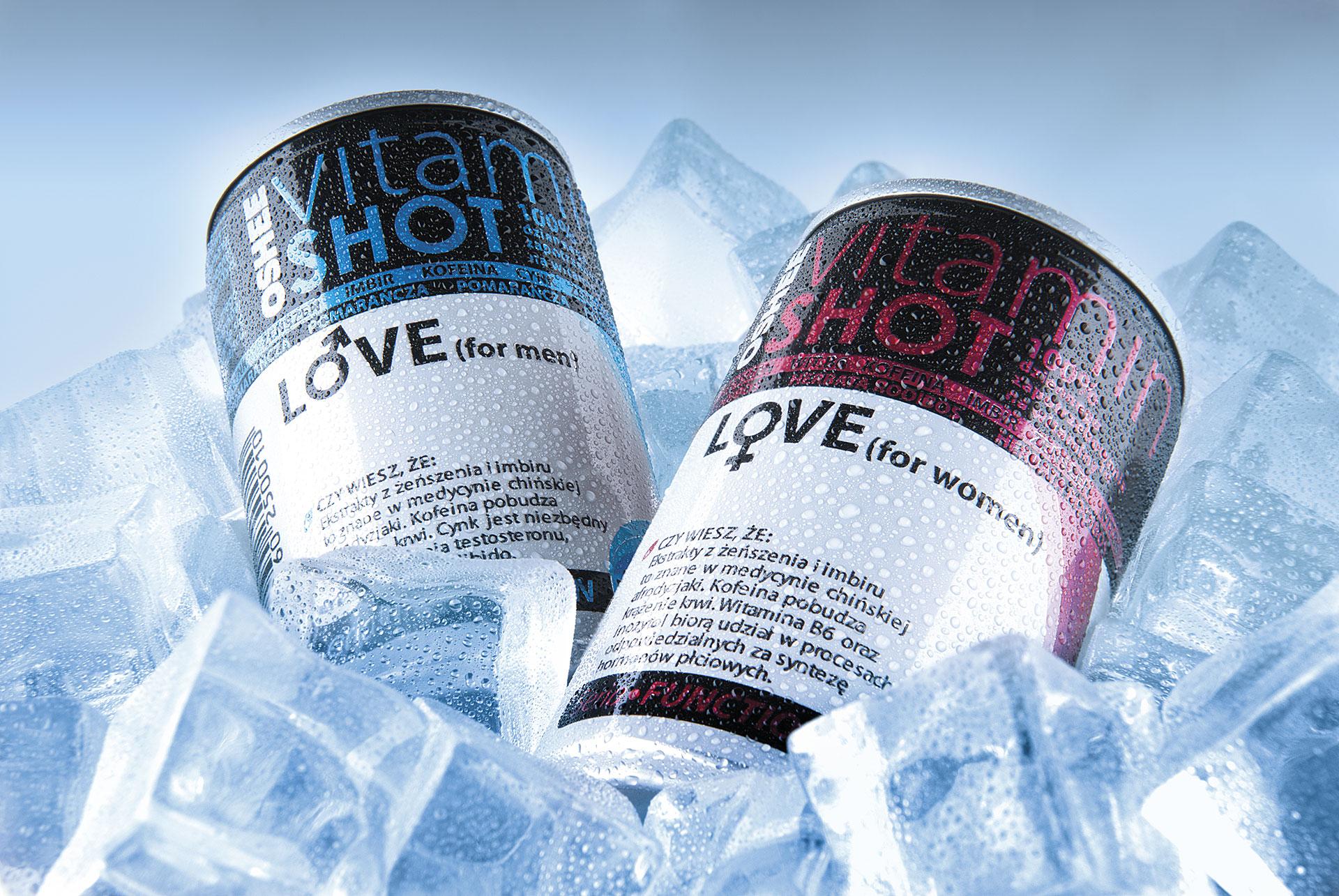napoje w kostkach lodu